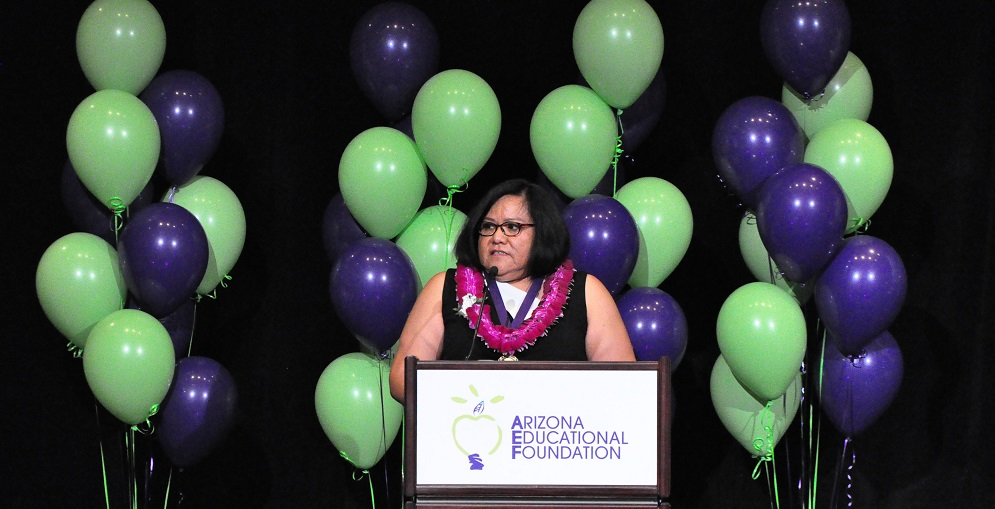 Lynette Stant, A Third-grade Teacher At Salt River Elementary School Is The Arizona Educational Foundation's 2020 Teacher Of The Year. Photo By Lisa Irish/AZEdNews