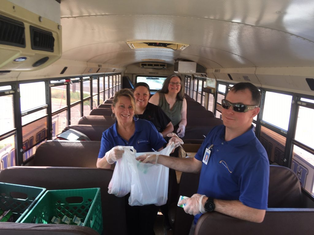 School meals: A lifeline for many during COVID-19 Bullhead-City-Elementary-delivering-meals-by-bus-1024x768