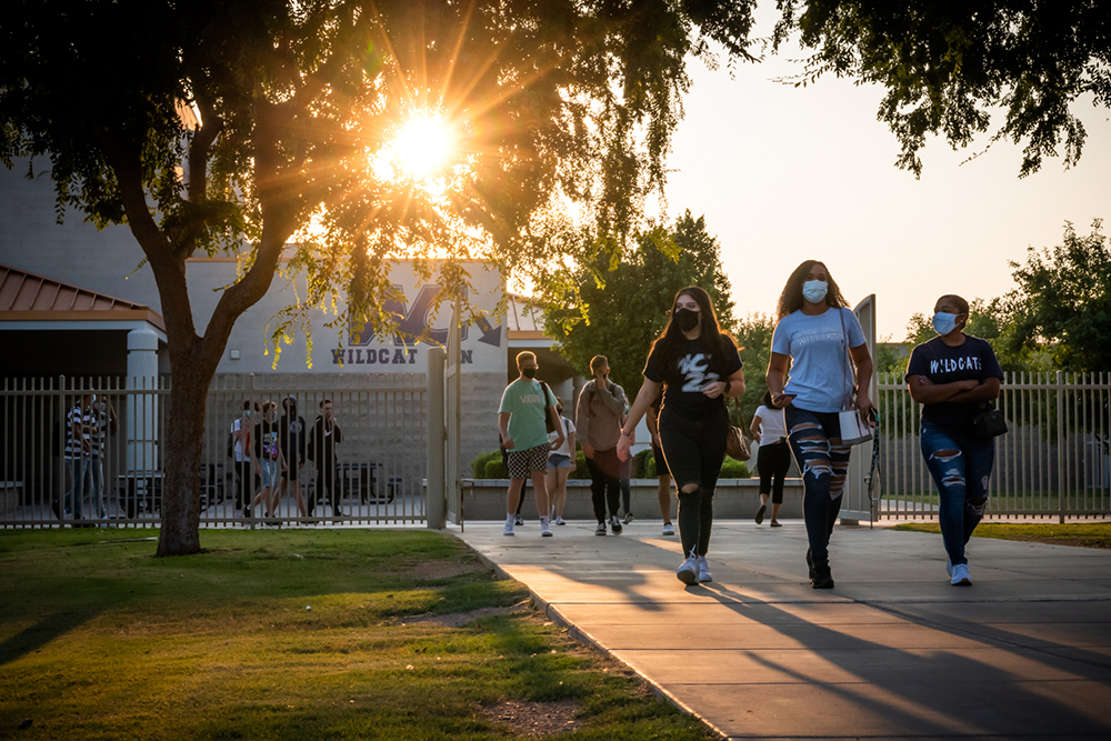 Willow Canyon High School Students Return To In-person Classes On Monday, Sept. 14, 2020. Photo Courtesy Willow Canyon High School
