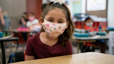 High School Theater Educators Plot Ways To Keep Shows Going Amid Pandemic Peoria-Unified-student-in-a-mask-400x225