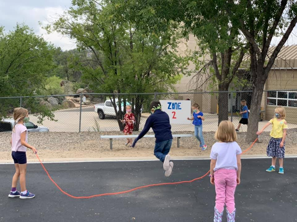 Abia Judd Elementary School Students Play At Recess On The First Day Of School Tuesday, Sept, 8, 2020. Photo Courtesy Prescott Unified School District
