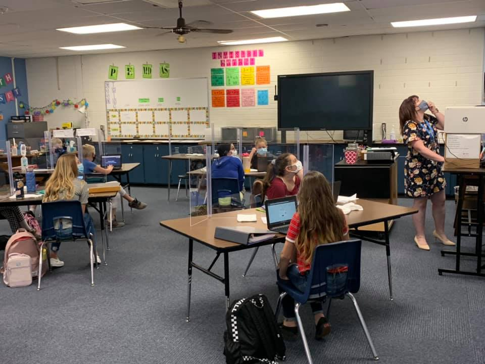 A Prescott Unified School District Teacher Leads Her Students In Learning On The First Day Of School. Photo Courtesy Prescott Unified School District