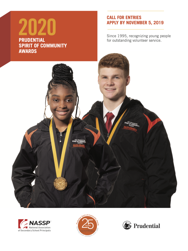 Apply now for the Prudential Spirit of Community Awards 2020-2021 Pru-2020-application-materials-768x1024
