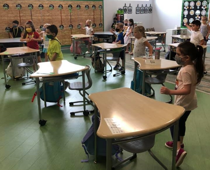 Kindergarten Students At Silver Valley Elementary School Take Part In Indoor Recess Time To Keep Active And Boost Creativity While Staying Safe In The Arizona Heat. Photo Courtesy Of Queen Creek Unified School District.