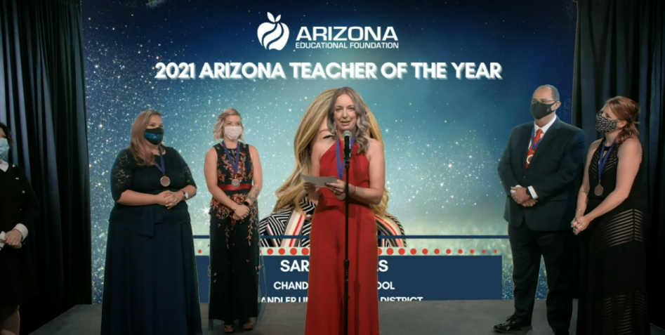 Arizona Educational Foundation's 2021 Teacher of the Year is Sara Wyffels 2021-AZ-Teacher-of-the-Year-Sara-Wyffels