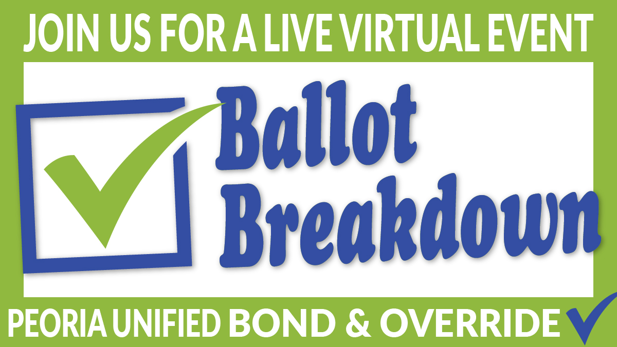 Ballot Break Graphic For Peoria Unified School District