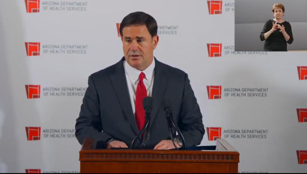 COVID-19 cases rise before Thanksgiving adding to school and hospital leaders' concerns Gov-Ducey-11-18--1024x580