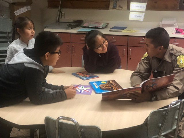 How including Native languages and cultures helps students learn and grow Read-with-Navajo-Cadets-Night-4