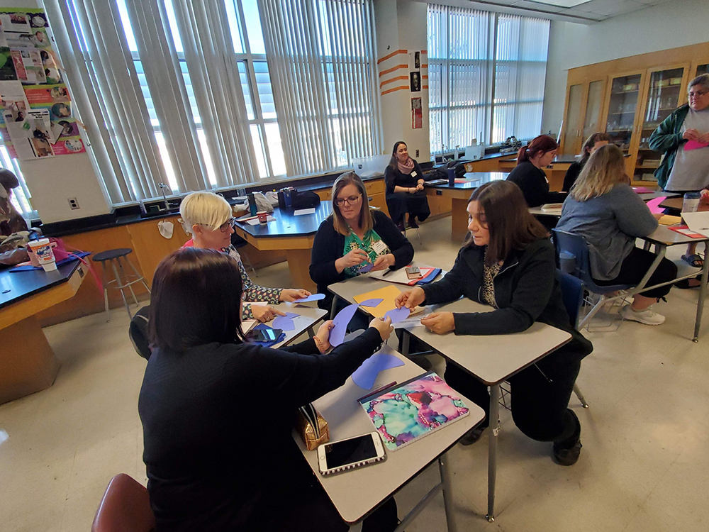 Teachers Collaborating At A Previous Year's Mathematics Educators Appreciation Day Conference. Photo Courtesy Of The University Of Arizona's Center For Recruitment & Retention Of Mathematics Teachers