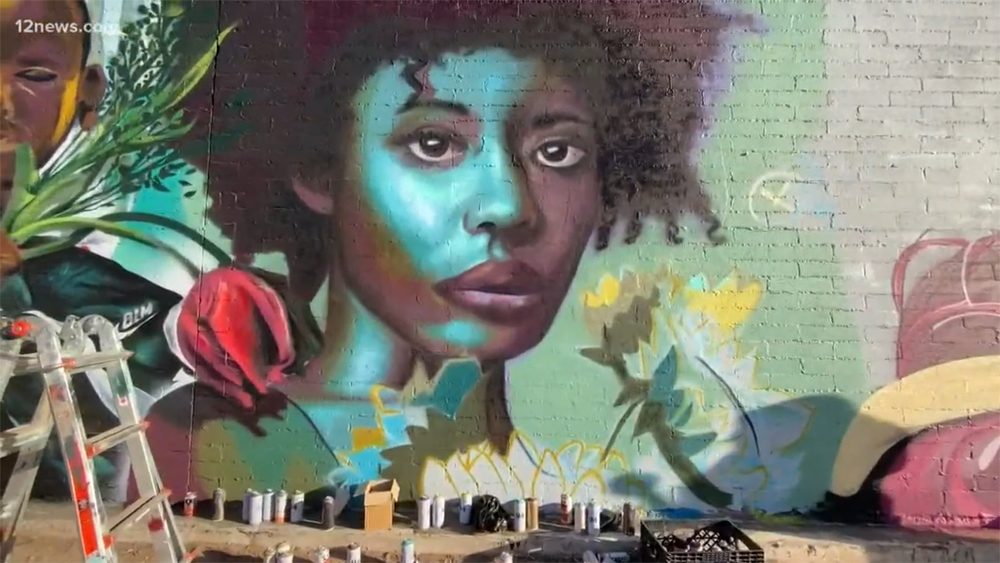 A Black Lives Matter Mural Pointed In Downtown Phoenix. Photo Courtesy Of 12 News Arizona