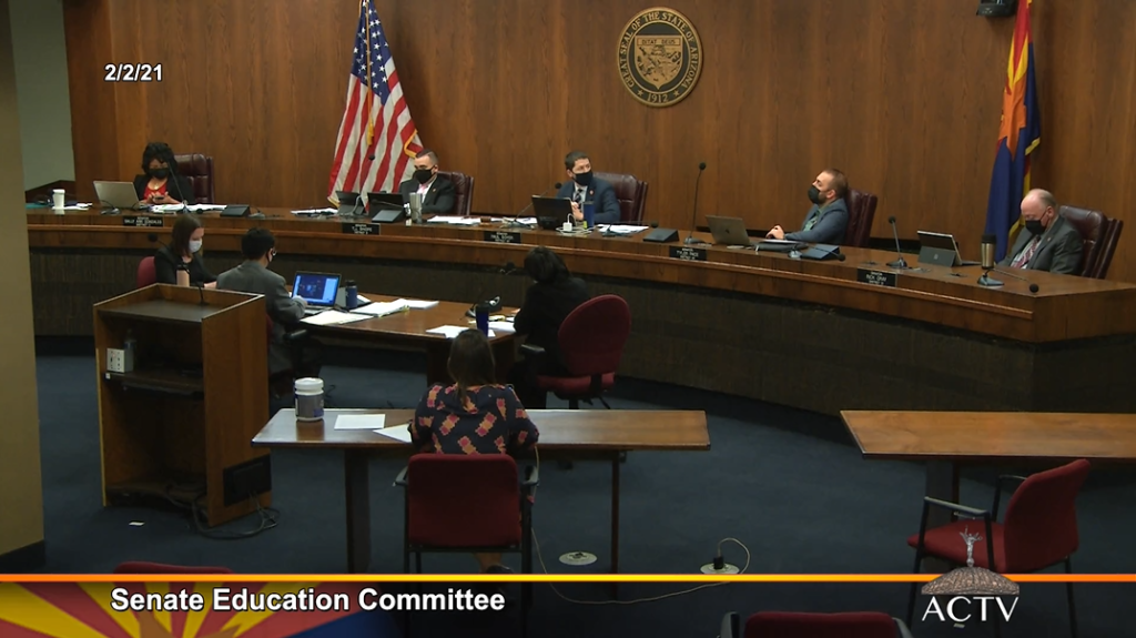 Video: SB 1452 expands vouchers, diverts money for teacher pay Senate-Education-Committee-Meeting-1-1024x575