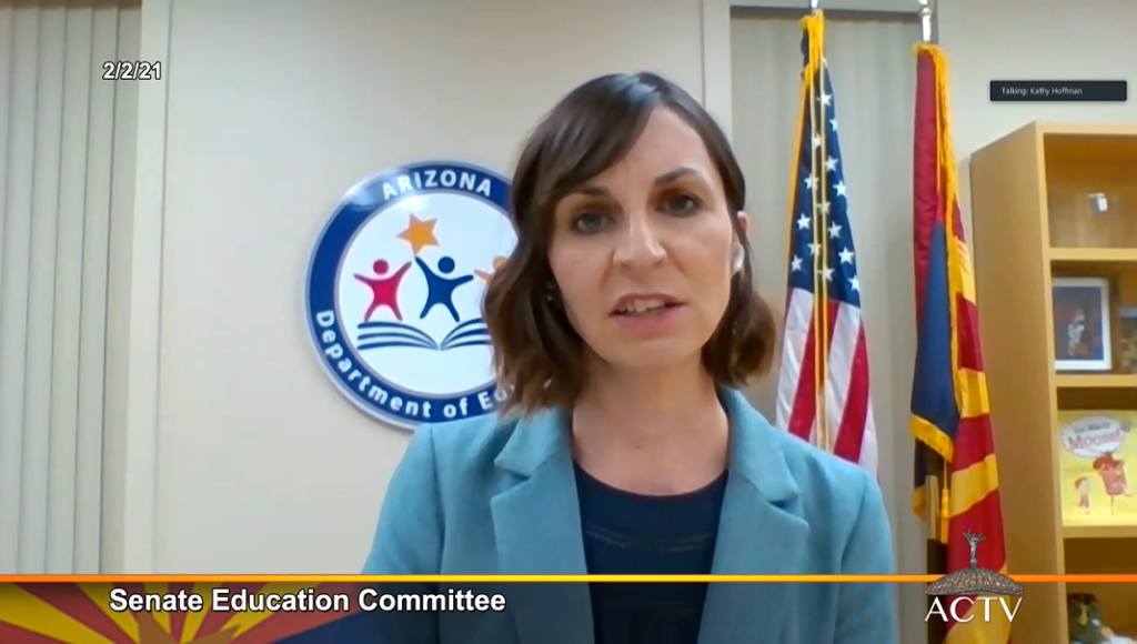 Video: SB 1452 expands vouchers, diverts money for teacher pay Supt-Kathy-Hoffman-State-of-Education-2--1024x580