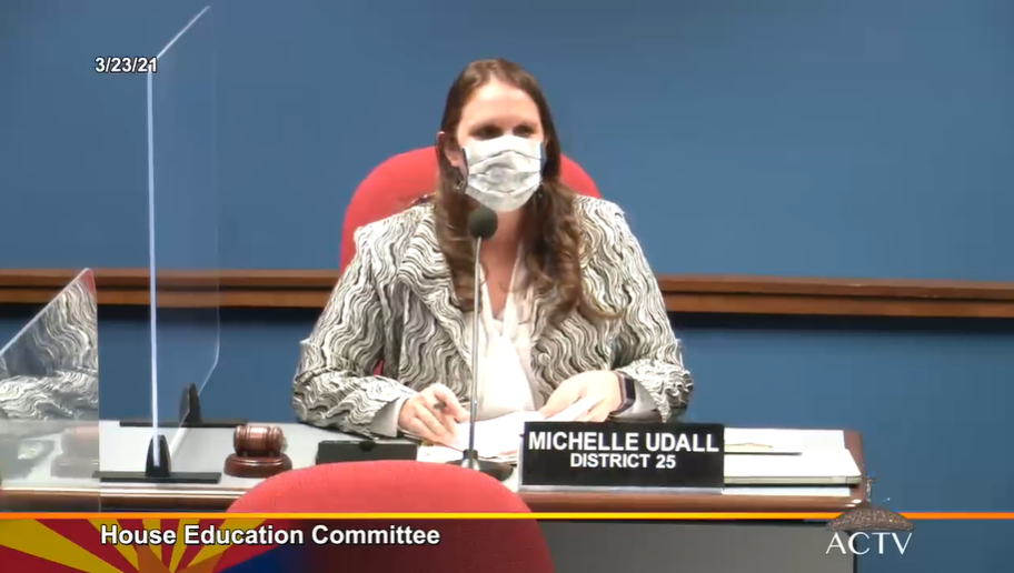 House Education Chair Michelle Udall During The Meeting March 23, 2021. Photo Courtesy Arizona Capitol Television