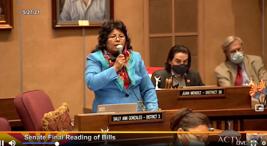 Sen. Sally Ann Gonzales Speaks About A Bill During A Senate Discussion On May 27, 2021. Photo Courtesy Of Arizona Capitol Television