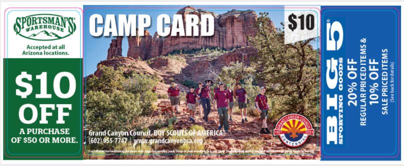 The Boy Scouts Of America Grand Canyon's Camp Cards For A Cause