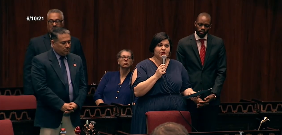 Rep. Raquel Teran Calls On Elected Leaders To Denounce The Harassment Of School Board Members And Disruption Of Board Meetings At The House Of Representatives On June 10, 2021. Photo Courtesy Arizona Capitol Television