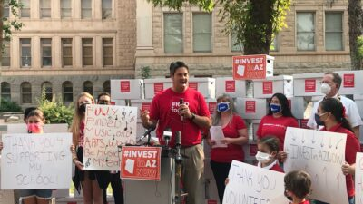 After two years of Disruption, New York's State Exams will go on as Normal this Spring Joe-Thomas-at-Invest-in-AZ-Coalition-press-conference-400x225