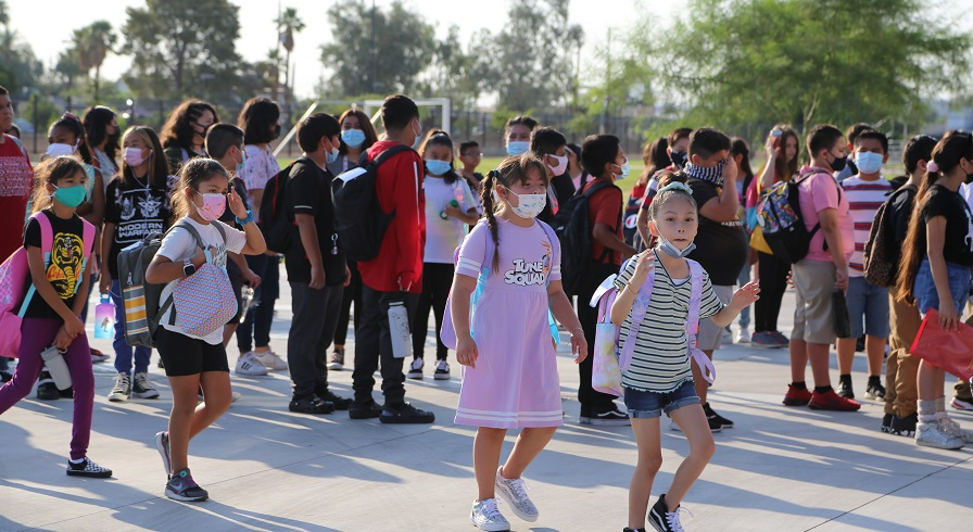 Students On Campus At A School In Creighton School District. Photo By Brooke Martinez/ AZEdNews
